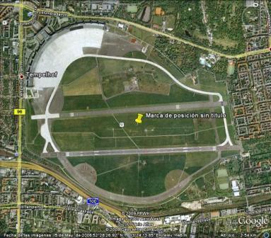 Tempelhof Park. Imagen de Google.
