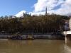28 Lyon. El Saona y el perfil de la Fourvière desde el Puente de la Feuillée.